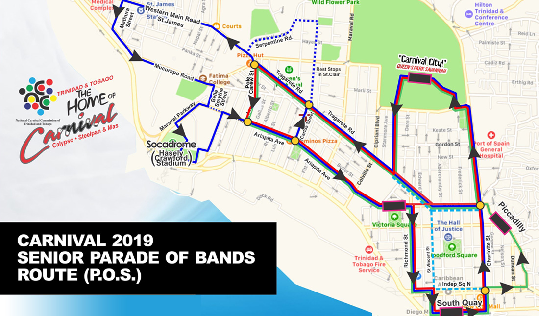 Parade of the Bands Routes 2019