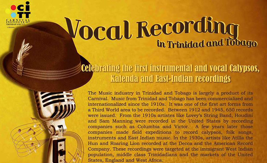 A Brief History on the Vocal Recording in Trinidad and Tobago
