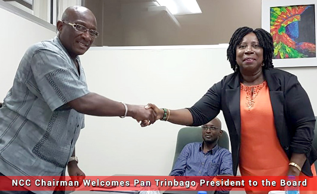 NCC Chairman Welcomes Pan Trinbago President to the Board